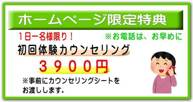 ダイエット3900円